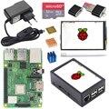 Оригинальный Raspberry <font><b>Pi</b></font> 3 Model B Plus + 3,5 тонкопленочный дюймовый тачскрин + чехол + Мощность 2.5A + карта SD 32G + радиатор для Raspberry <font><b>Pi</b></font> 3B + Plus