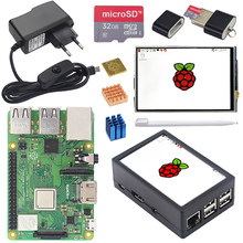 Original Raspberry Pi 3 Model B Plus+3.5 inch TFT TouchScreen+Case+2.5A Power+32G SD Card+Heat Sink for Raspberry Pi 3B+ Plus(China)