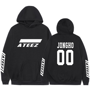 Image 3 - Kpop Ateez Sweatshirts Fake Two Pieces Hoodies Fashion Printed Pullover