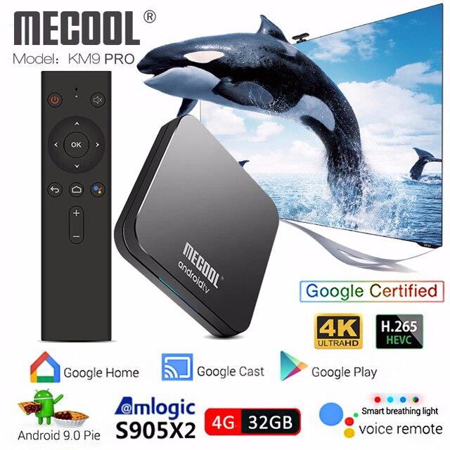 Mecool KM9 PRO S905X2 Android TV Box Android 9 0 4GB 32GB Voice Control  smart tv box 4k iptv box pk mecool km3 media player