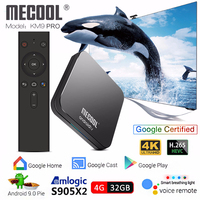 Mecool KM9 PRO S905X2 Android TV Box Android 9.0 4GB 32GB Voice Control smart tv box 4k iptv box pk mecool km3 media player