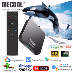 Mecool KM9 PRO S905X2 Google Certified Android TV Box Android 9.0 4GB/32GB Voice Control Smart Set Top Box 4k Media Player