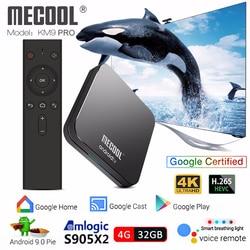 Mecool KM9 PRO S905X2 Android TV Box Android 9.0 4GB 32GB Voice Control smart tv box 4k iptv box pk mecool km3 media player