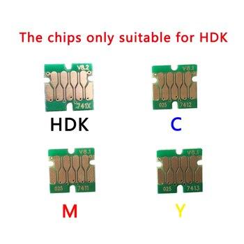 Más T741X- T7414 una vez Chips de cartucho para Epson F7100 F7170 F6200 F7200 F9200 F6270 F7270 F9270 impresora chips de cartuchos