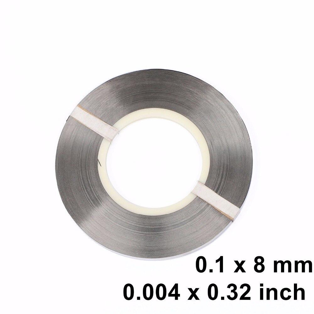 Bande de Nickel pur, sangle 0.1x8mm pour le soudage par batterie Ni200 1 kg/rouleau