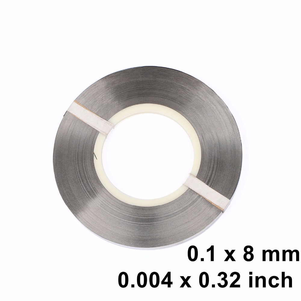 Pure Nickel Strip, 0.1 x 8 mm Strap for Battery Welding Soldering Ni200 1kg / roll