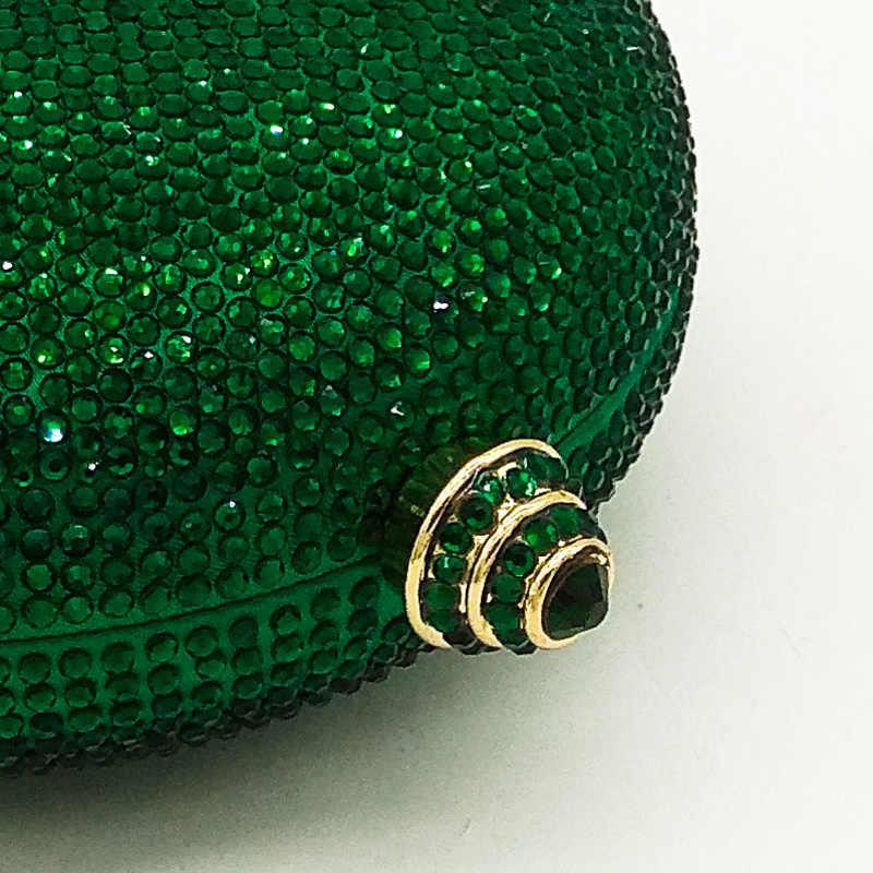Женские сумки и клатчи Boutique De FGG, зеленые, алмазные, винные, круглые, для свадьбы