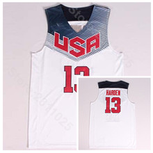 dc2da7530 Ediwallen Men Basketball 13 James Harden Jersey Navy Blue White 2014 USA  Dream Team Eleven Jerseys