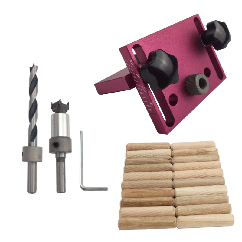 Woodworking Tool Drilling Locator Tenon Hole Punchers Positioning Dowelling Jig