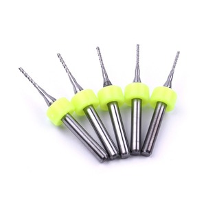 Image 3 - 10PCS PCB Milling Cutter 0.4mm 3.175mm Fish Tail Milling Cutter Corn Milling Cutter Tungsten Carbide Mini End Mill Engraving CNC