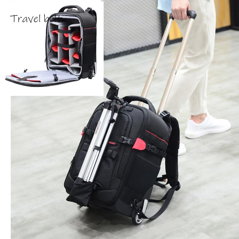 Travel Belt Photography should Travel Bags Multifunction profession High capacity Suitcase Wheels 18 inch Rolling luggage