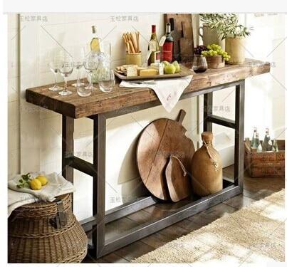 Vintage tavolo consolle in legno mobili in legno - Mobili tv vintage ...