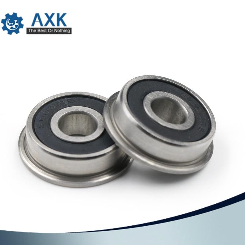 20 PCS F698-2RS 8x17x6mm Miniature Flanged Ball Bearings Rubber Sealed Bearing