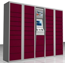 IP wifi safes Lockers logistic management system software for express parcels Sender recipient sel service