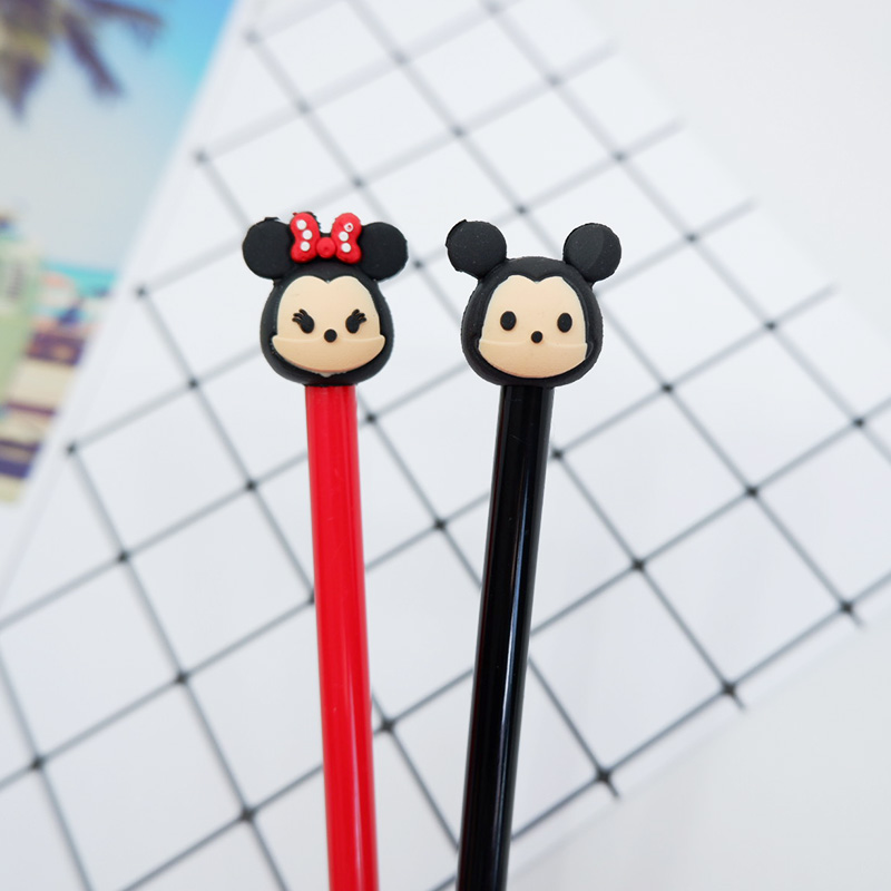 2 pcs lot Cartoon Fat rat Gel Pen kawaii stationery School Supplies Office Supplies Cute writting pens paperlaria in Gel Pens from Office School Supplies