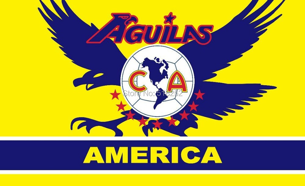 Mexico Football Club America Flag 3x5 FT 150X90CM Banner 100D Polyester Custom flag grommets 6038,free shipping