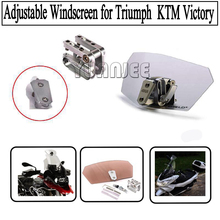 Airflow Adjustable Windscreen Wind Deflector Universal Motorcycle Windshield for Triumph Aprilia KTM Victory All WindshieldModel