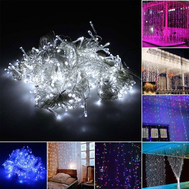 EU Plug Outdoor Floor 3Mx3M 300LED Christmas Wedding Party Fairy Lights  Curtain Lights