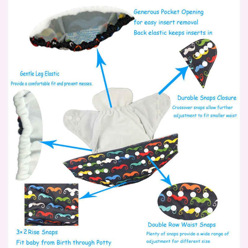 천 기저귀 기저귀 일체형 천 기저귀 생분해 성 재사용 가능한 친환경 아기 기저귀 바지 L30