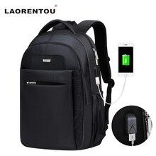 LAORENTOU 2017 Men and Women Backpack Laptop Travel Bag Multifunction Rucksack Waterproof Oxford School Backpacks for Teenagers