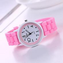 Новый бренд котировка модные Повседневное кварцевые часы Для женщин и детей силикона движения Часы Relogio feminino платье часы Наручные часы