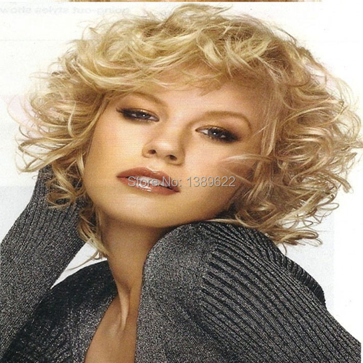 Blonde Human Hair Full Lace Lace Front Wig Short