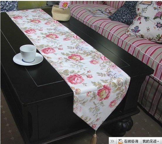 Pastoral style table runners, tablecloths, towels, tableware pad 30 * 200CM