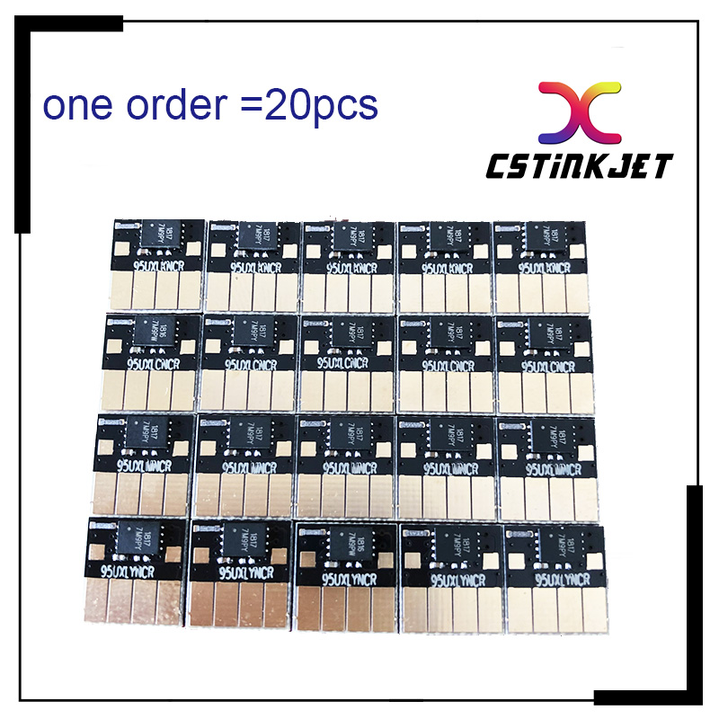 Free DHL delivery,CSTINKJET 5 SETS V6 auto reset chip for hp 954 arc chip for HP OfficeJet 7740 8710 7720 8210 8710 8720 8730-in Cartridge Chip from Computer & Office    1