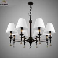 Country Led Chandelier Lighting Living Room Iron Vintage Loft Chandelier Lamp Dining Room Multipoint Decor Industrial Hanglamp