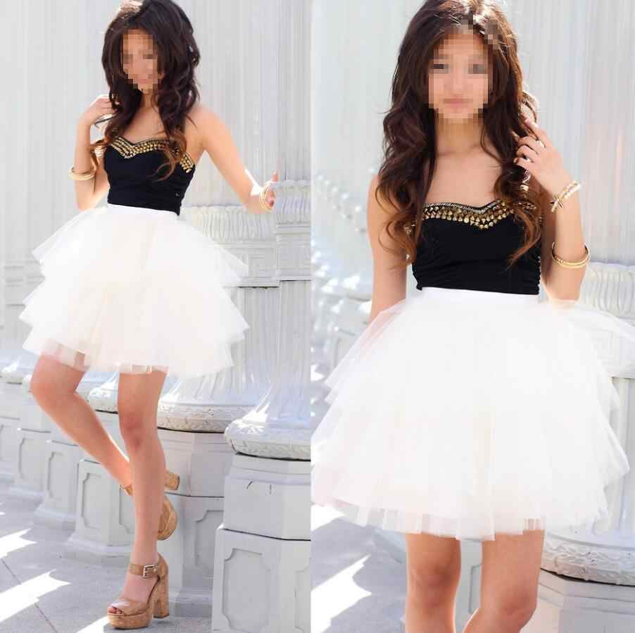 72bcc5220f0d6 Detail Feedback Questions about Hot Sale Female Tulle Skirt Women Many  Layers Short Mini Skirts Women Tulle waist Skirt high quality custom on ...