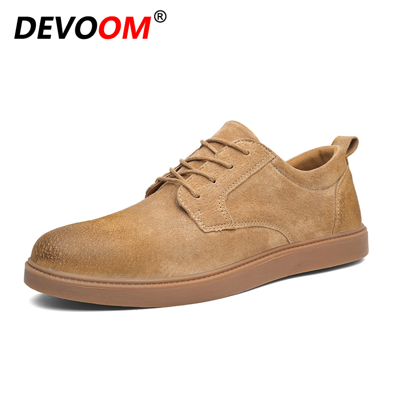 Italian Style Fashion Casual Nubuck Mens Leather Shoes Business Dress Flat Spring Autumn Soft Moccasins Shoe Men Lace-up Leisure genuine suede leather mens shoes leisure flat spring summer casual flat shoes lace up soft breathable 2017 men fashion shoes