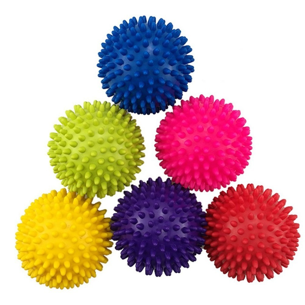 Portable Physiotherapy Ball 7.5CM Mutlicolor PVC Massage Ball Hedgehog Body Muscle Massage Fitness Massager Ball Relief 2019