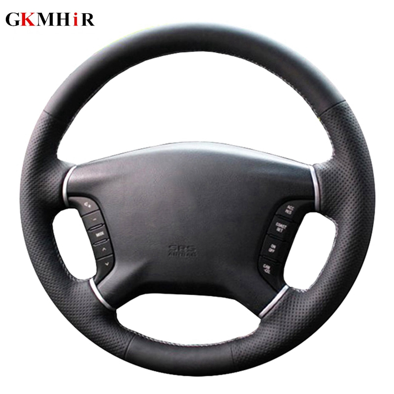 Artificial Leather Steering Wheel Cover Black Car Steering Wheel Cover For Mitsubishi Pajero 2007-2014 Galant 2008-2012
