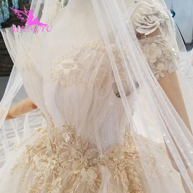 AIJINGYU Artı Boyutu Gelinlikler gelin elbiseleri Satış Türk Boncuklu Çin Fabrika Kıyafeti Web Siteleri Lüks Kristal düğün elbisesi