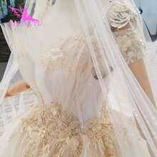 AIJINGYU Plus Size Wedding Gowns Bridal Dresses Sale Turkish Beaded China Factory Gown Websites Luxury Crystal Wedding Dress
