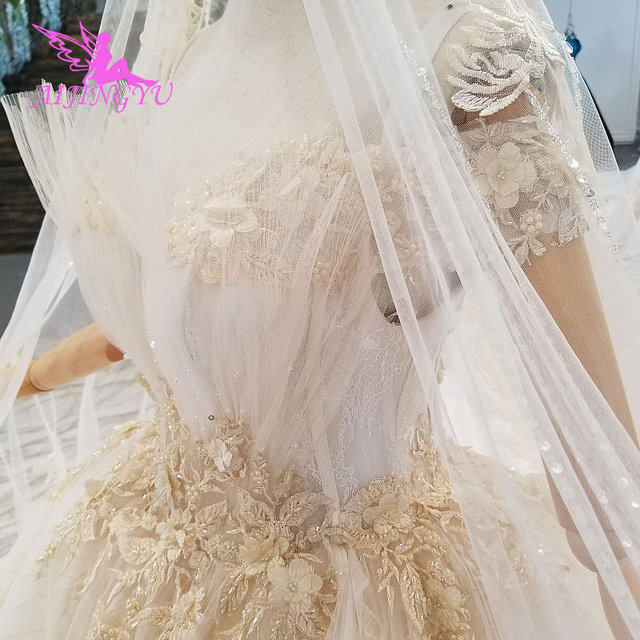 AIJINGYU Plus Size Wedding Gowns Bridal Dresses Sale Turkish Beaded China Factory Gown Websites Luxury Crystal Wedding Dress