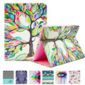Para apple ipad mini 1/2/3 pintura impresión flip cuero de la pu caja de la tableta del cojín con el lindo bolsa de tarjeta de bolsillo