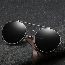 Vintage Round Flip Up Steampunk Sunglasses Men Women 2019 Fashion Retro Punk Sun Glasses Man Metal Mirror Sunglass UV400 Oculos стоимость