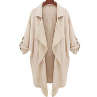 2015 modelos estrella de Europa y América Nueva invierno Delgado mujeres de gran tamaño capa de la chaqueta envío gratuito 2015 9879