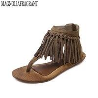 2017 Women Summer Style Flat Shoes Women Flat Heel Comfortable Soft Bottom Sandals Women Sweet