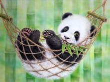 100% Full 5D Diy Daimond Painting Lovely Panda 3D Diamond  Round Rhinestones Diamant Embroidery Animal