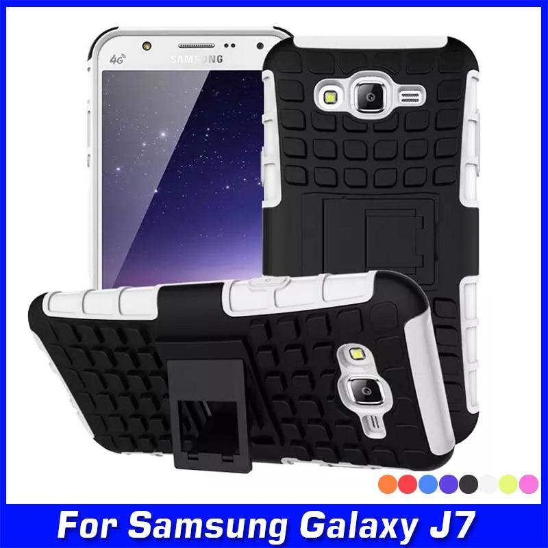 Luksusowe TPU Wstrząsoodporna Silikon + Twarda Skorupa Telefonu Skrzynki  Pokrywa do Samsung Galaxy J7 J700 SM-J700F J700H Case Armor Powrót pokrywa 2d427ad5256a