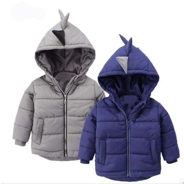 22b679ece2cd Boys Girls Jacket Winter Coat Children s Outerwear Dinosaur Hooded ...