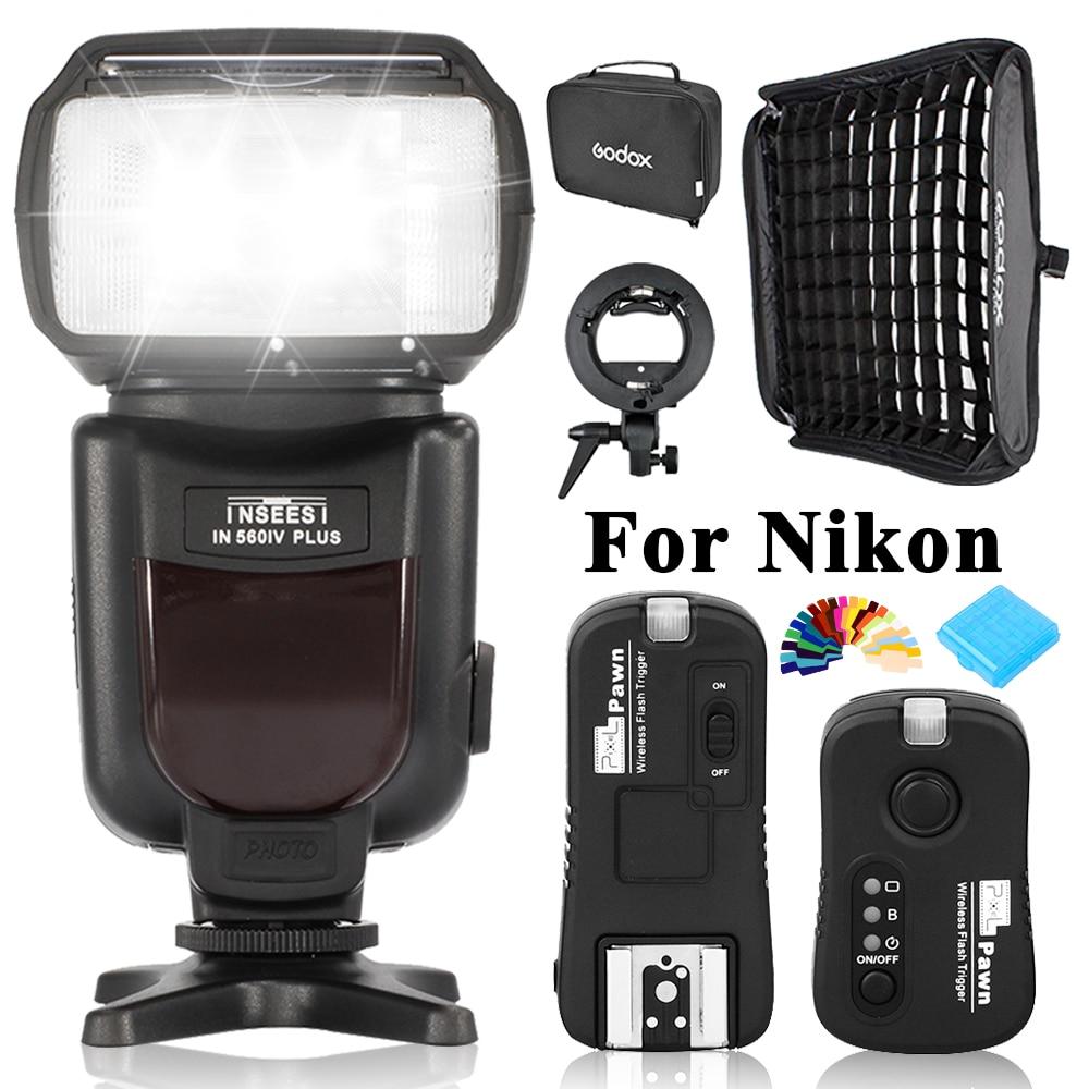 INSEESI IN-560 IV IN560IV PULS Wireless High performance LED Flashlight +TF-362 Flash Trigger+Godox 60*60cm Softbox For Nikon византийская армия iv xiiвв
