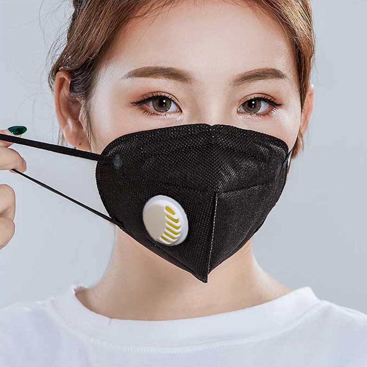 De Voluntad Fuerte Máscara De Boca Unisex Desechable Anticontaminación Mascarilla A Prueba De Polvo Filtro De Carbón Activado Filtración Pm2.5 Antibruma Máscara De Boca