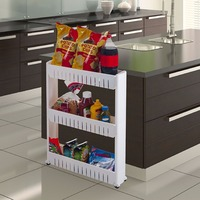 Multipurpose Multi Layer Movable Shelf Shelving Unit Organizer Storage Baskets Kitchen Refrigerator Side Storage Storage Rack