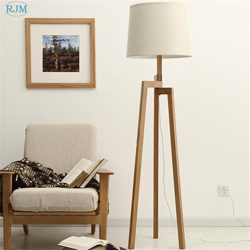 Nordic Simple Warm Wood Floor Lamp Tripod Wooden Cloth Lampshade Table Lights for Bedroom Bedside Living Room Restaurant DecorNordic Simple Warm Wood Floor Lamp Tripod Wooden Cloth Lampshade Table Lights for Bedroom Bedside Living Room Restaurant Decor