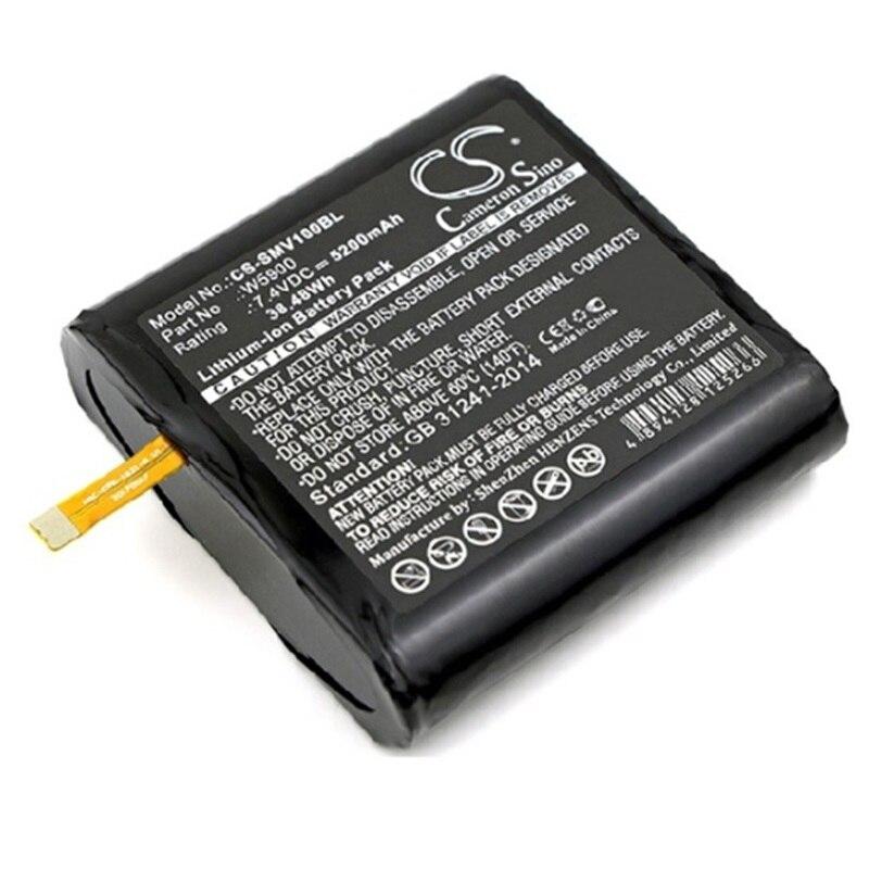 Batterie pour Sunmi V1 Scanner de codes à barres nouveau Li-Ion Rechargeable accumulateur Pack remplacement 7.4 V 5200 mAh W5900 Code de piste