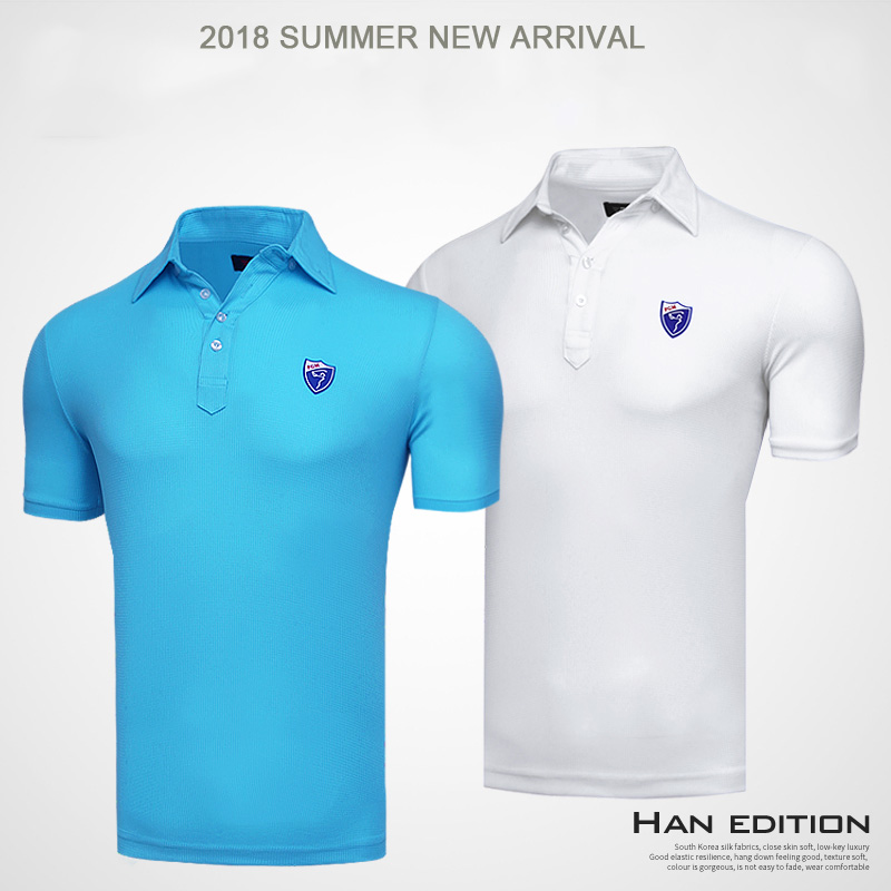 2018 new men golf shirts summer golf training garment sports clothing short sleeve polo shirts outdoor golf wear brand tops