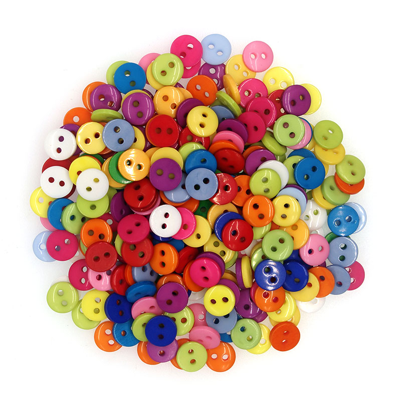 SHINE Brand 100PCs Resin Sewing <font><b>Button</b></font> Scrapbooking Round Mixed 2 Holes Costura Botones bottoni botoes JS9003 <font><b>8mm</b></font> image